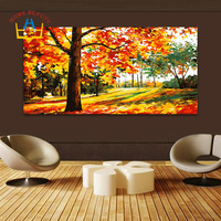 HOME BEAUTY 50 100 Diy Pictures By Numbers Modular Wall Paintings For Living Room Trees Coloring