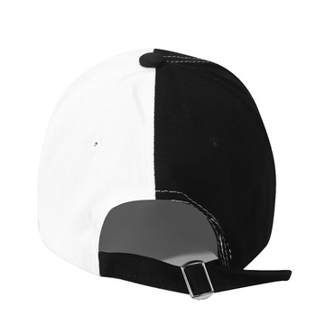 Black / White Cotton Baseball Cap 4