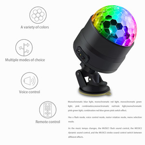 Image 2 - Atotalof USB LED Bar Stage Lighting RGB Mini Disco Ball Light Sound Activated DJ Projector Party Lights for Car Home KTV