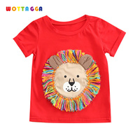 WOTTAGGA 2019 Summer Boys Shirts Cotton Children T shirts Colored Tops for Boys Short Sleeve Kids Blouse Toddler Tees Baby Cloth