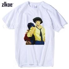 Cowboy Bebop T-Shirt Summer Teens Short Sleeve White Tops Tees Shirt For Men Women