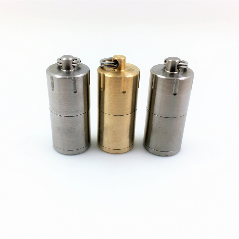 Super Mini Lighter Case Metal Mini Emergency Lighter Keychain Portable Lighter 2.0 Stainless Steel/Brass/Titanium For Camping наушники sennheiser hdr185