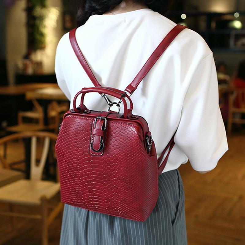 2018 New Fashion alligator Pu Leather Backpack For Girls Leisure Women Backpack Beautiful Grils School Bag
