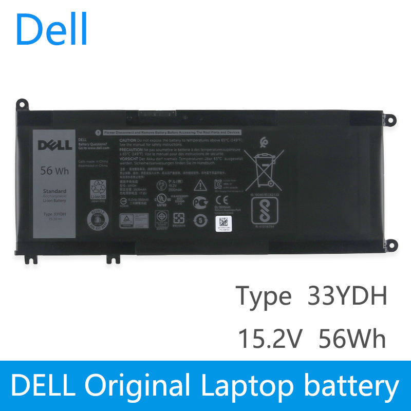 <font><b>Dell</b></font> Original New Replacement Laptop battery for <font><b>Dell</b></font> Inspiron 17 7778 7779 7773 15 7577 G3 15 3579 17 <font><b>3779</b></font> P30E Series 33YDH image