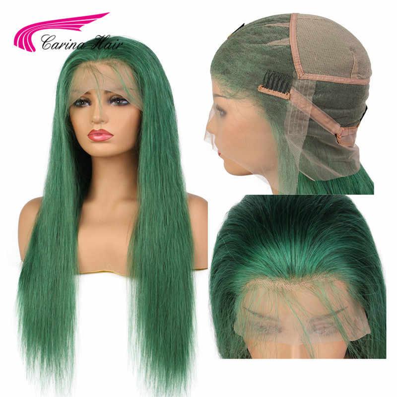 Карина полный кружева парики человеческих волос с для волос Розовый Синий Зеленый Фиолетовый бразильский Волосы remy бесклеевой парик на сеточке с предварительно сорвал