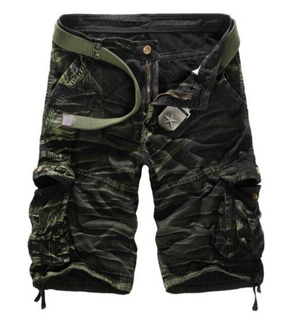 Мужские хлопковые шорты, новинка, мужские модные камуфляжные шорты Карго размера плюс, повседневные камуфляжные шорты с несколькими карманами в стиле милитари - Цвет: Army camouflage