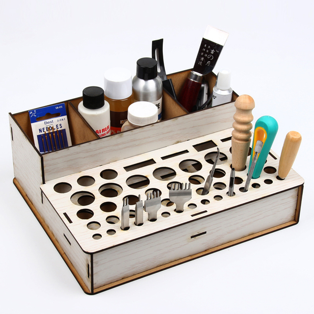 Bon Leather DIY Tool Box Frame Straddle Tool Storage Rack Punch Printing Tool  Storage Leather Tools Holder