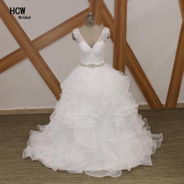 Berühmte Design Backless V ausschnitt Sexy Hochzeitskleid 2018 ...