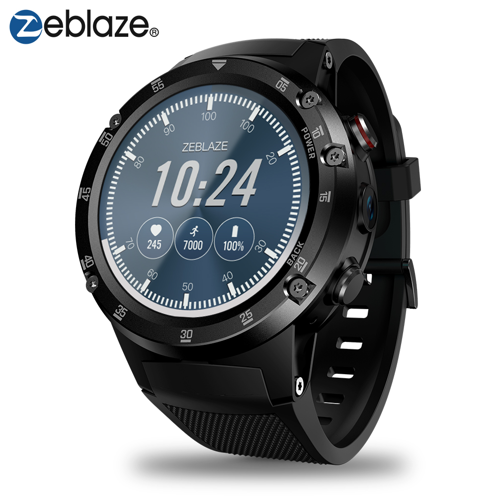 Zeblaze THOR 4 Plus 4g Mondiale Bandes SmartWatch GPS/GLONASS android montre Quad Core Hors Ligne Musique Assistant Intelligent montre Smart Watch Hommes