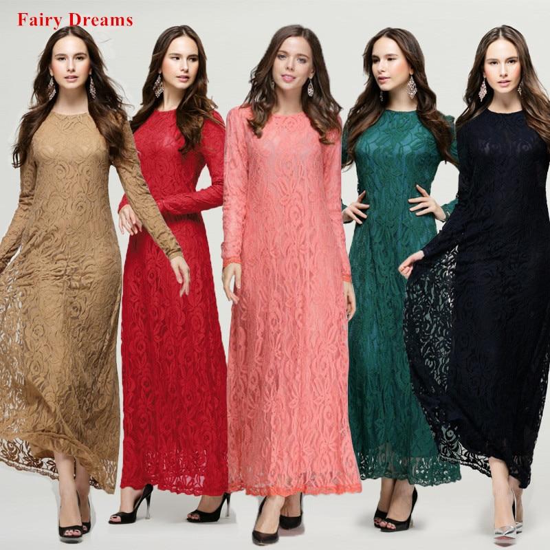 fa22db2dc3595 JOGTUME Renda Jubah Arab Muslim 2017 Fashion Wanita Abaya Islamic ...