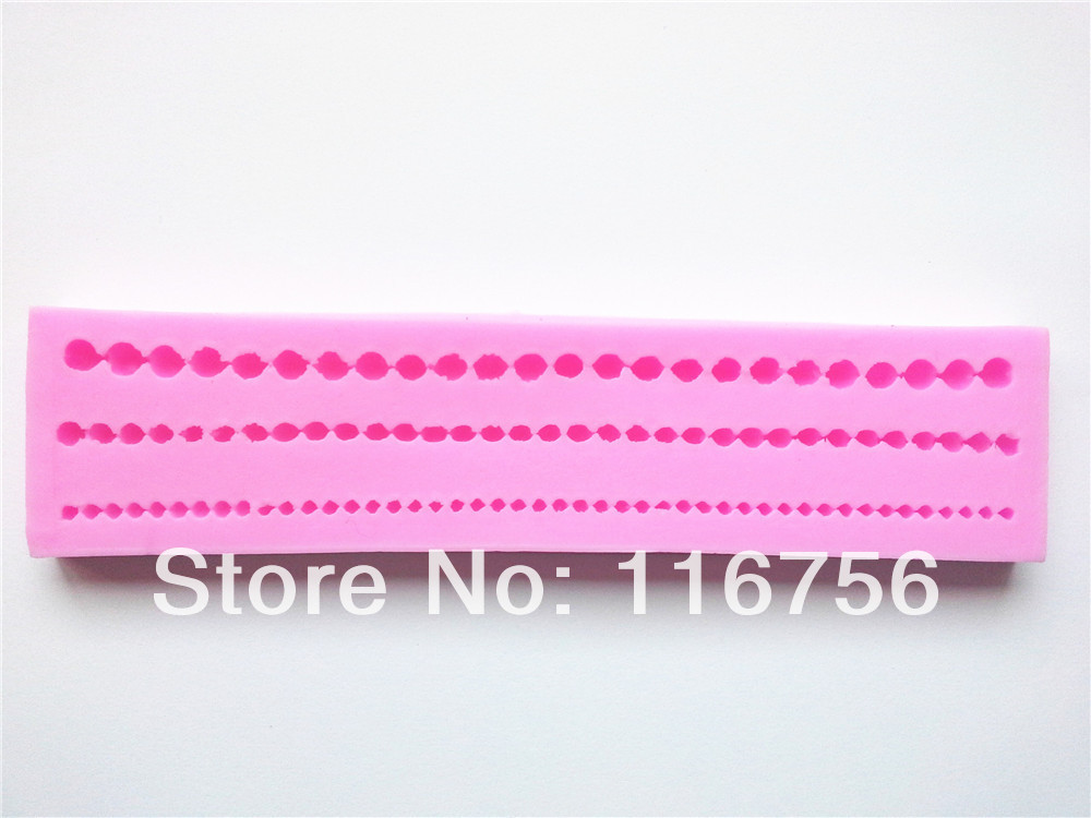 Hot Sale! Free Shipping Fondant Cake Pearl Necklace Silicone Mold Sugar Paste Sugar Art Tools Cake Decoration Wholesale & Retail