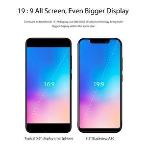 Image 2 - Blackview A30 5.5 pouces Smartphone Quad Core téléphone Mobile 19:9 plein écran 3G téléphone portable MTK6580A Face ID 2GB + 16GB Android 8.1