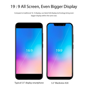 Image 2 - Blackview A30 5.5inch Smartphone Quad Core Mobile Phone 19:9 Full Screen  3G Cellphone MTK6580A Face ID 2GB+16GB Android 8.1