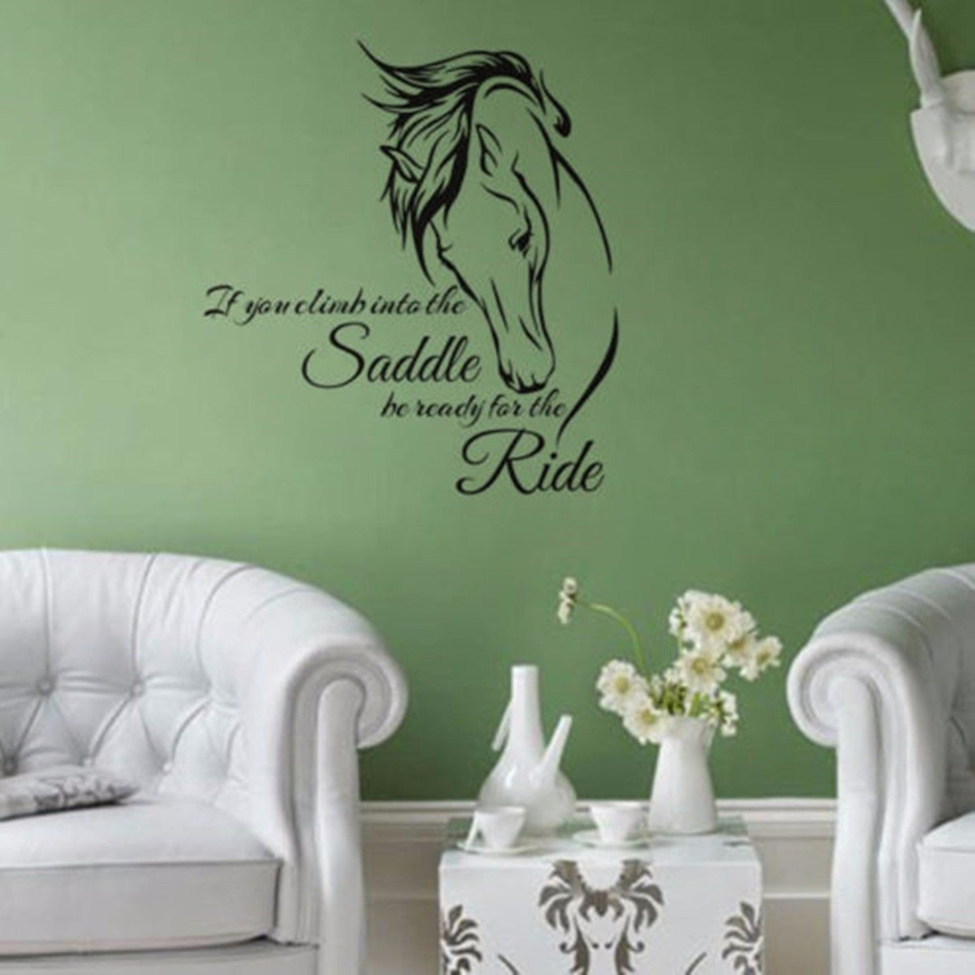 Horse wall sticker animal wall decals words wall stickers for horse wall sticker animal wall decals words wall stickers for living room horse head home decoration amipublicfo Images