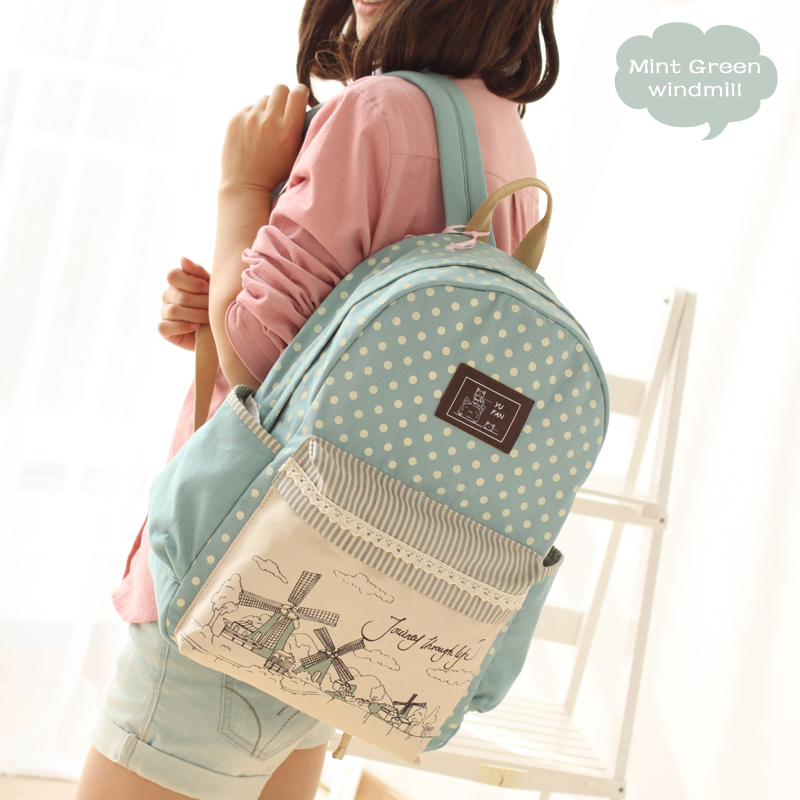 2017 Newest Fashion YuFan Women Fresh Softback Canvas Polyester Preppy Style Backpack Computer Interlayer Mochila Bts