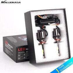 MALUOKASA 2x Car H15 LED Bulb Car Headlight 80W 8000LM Lamp Auto DRL Vehicle Driving Light 6000K White Car-styling Automobiles