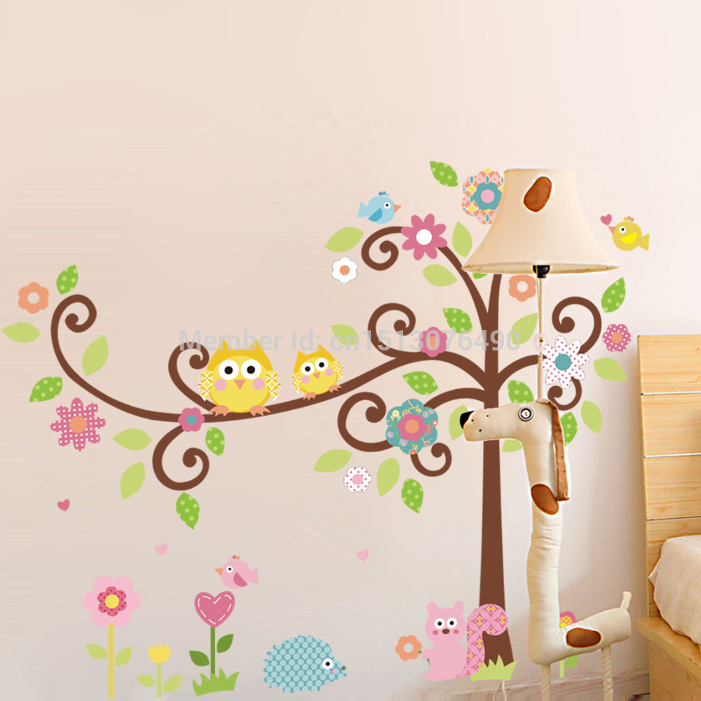 Cute Owl Tree Wall Decal Kindergarten DIY Art Vinyl Wall Stickers Decor  Mural In Wall Stickers From Home U0026 Garden On Aliexpress.com | Alibaba Group