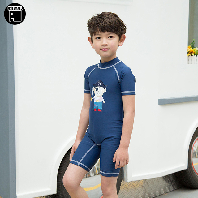 bfc2708baa Cute Cartoon Boys Swimming Clothes Kids UV Swimwear One Pieces Surfing Suit  2017 Summer Children's Swimsuits Quick-drying 2-9Y