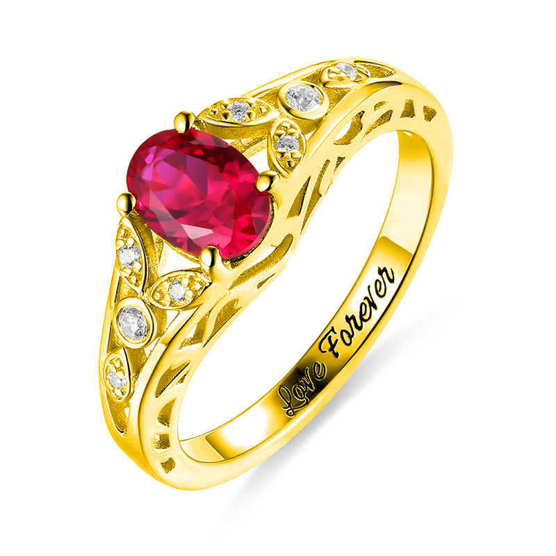 Wholesale Promise Ring For Couple Women Oval Birthstone