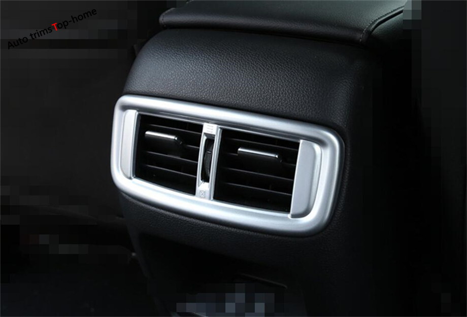 Interior Accessories Yimaautotrims Armrest Box Air Conditioning Ac Outlet Vent Frame Decoration Cover Trim 2 Color For Honda Cr-v Crv 2017-2019 Abs Pleasant To The Palate Interior Mouldings
