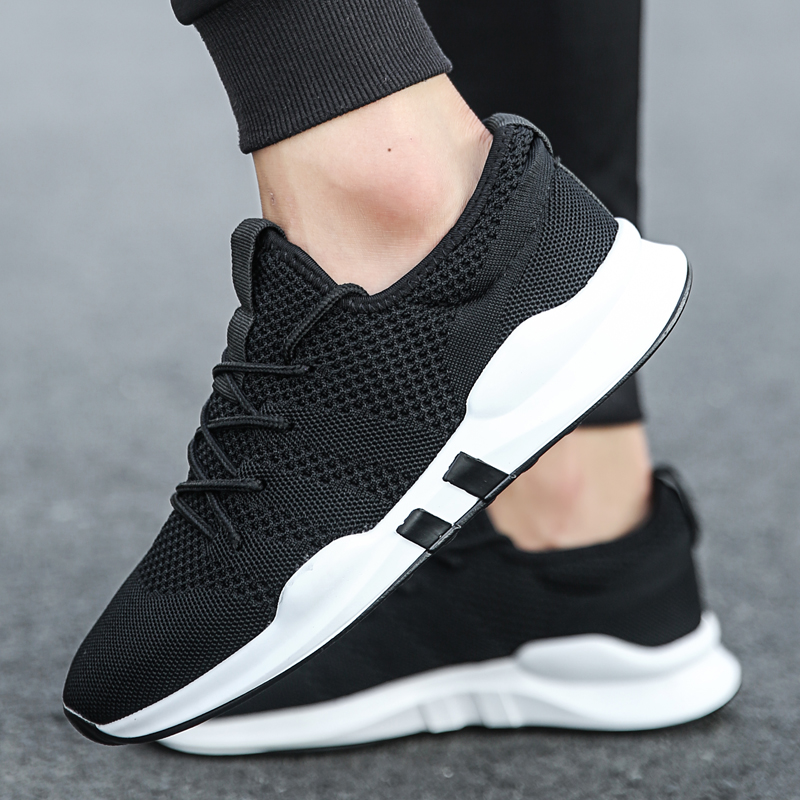 SUROM Mesh Sneakers Men Shoes Casual Flywire Breathable Comfortable Fashion Flats Lace Up Outdoor Flats Men Shoes BlackSUROM Mesh Sneakers Men Shoes Casual Flywire Breathable Comfortable Fashion Flats Lace Up Outdoor Flats Men Shoes Black
