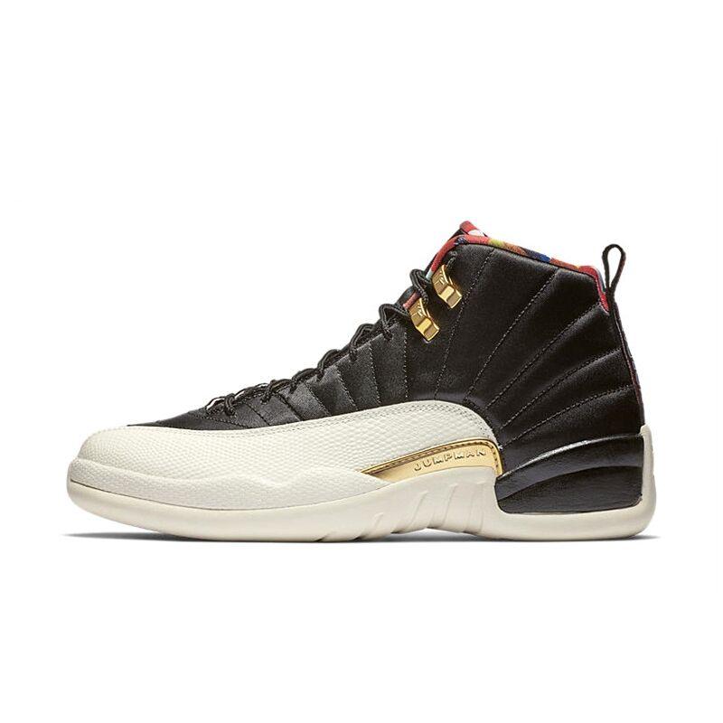 b2e1d16f76f7 2019 Jordan 12 XII Basketball Shoes CNY Men black Gold Outdoor Sport  Sneakers New Arrival size us 8 13 Plus Size-in Basketball Shoes from Sports  ...