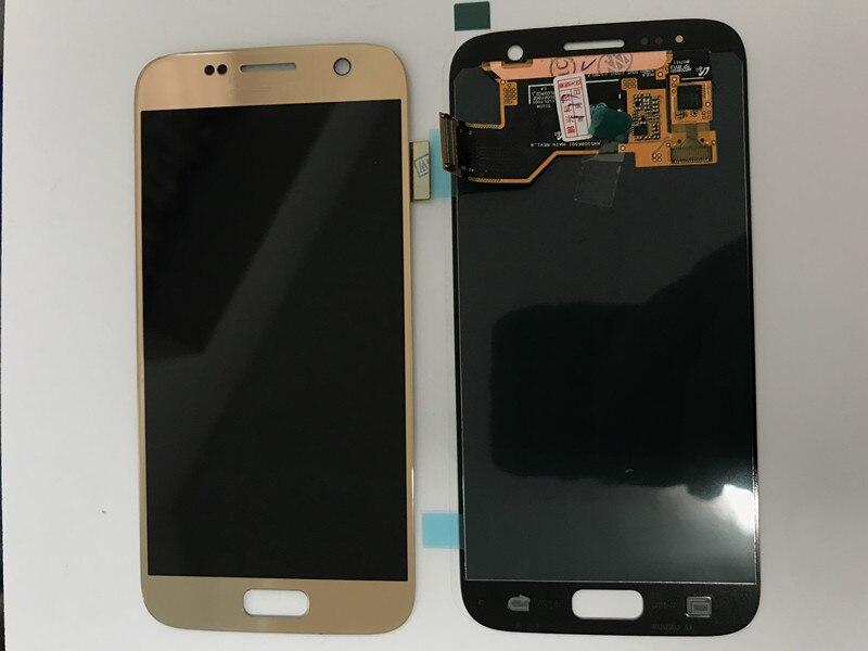 Test Graver Ombre écran lcd Pour Samsung S7 écran lcd Pour S7 G930 G930F Affichage écran lcd ensemble de digitaliseur tactile