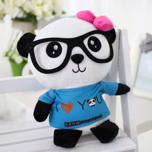 lovely cartoon panda I love you panda large 90cm plush toy couple panda doll soft throw pillow, proposal ,birthday gift x026
