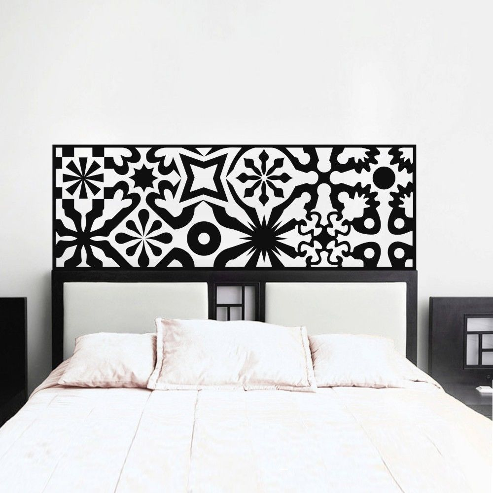 US $8.99 25% OFF|Modern Bed Headboard Decoration Accessories Wall Decal  Bedroom Pvc Pure Color Wall Stickers adesivo de parede Home Decor Z919-in  Wall ...