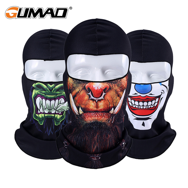 3D Orcs Skull Balaclava Full Face Mask Warm Helmet Liner Ski Paintball Cycling Snowboard Biker Tactical Riding Face Shield Hood