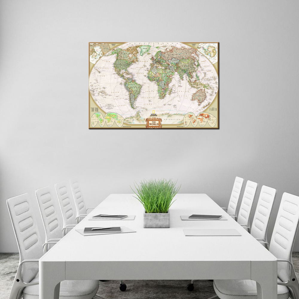 Home decor canvas one piece world map mural art decorations for home decor canvas one piece world map mural art decorations for living room modern wall decor wall art poster artworks 60x90cm in painting calligraphy gumiabroncs Choice Image