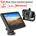 "2.4G Wireless License Back Up Reverse Car Rear View Camera parking 7"" LCD Monitor Kit with Weather-proof Camera"