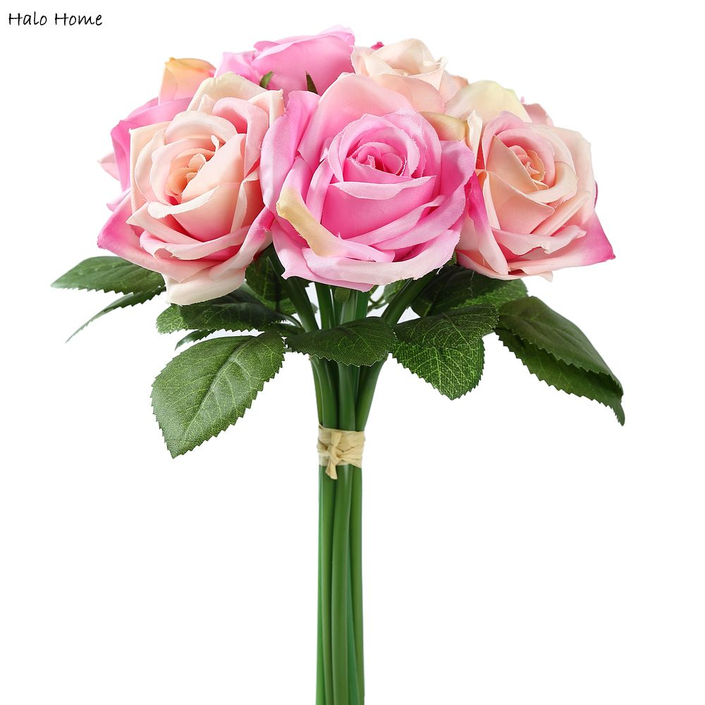 1 bunch silk artificial flower dark pink rose for wedding public 1 bunch silk artificial flower dark pink rose for wedding public places party garden home festival celebrations decor in artificial dried flowers from izmirmasajfo