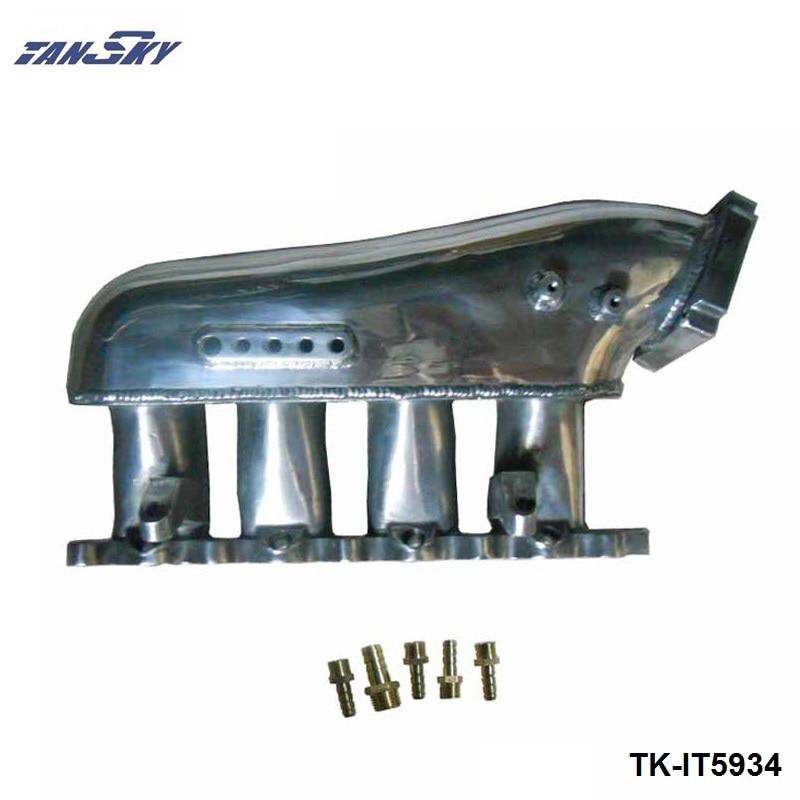TANSKY -  Engine Swap Turbo Intake Manifold For Mitsubishi EVO 4-9 4G63 High Performance Polished TK-IT5934 tansky engine swap turbo intake manifold for nissan sr20 s13 high performance tk it5930s
