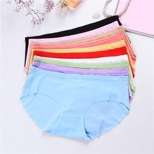 Sale Ice silk seamless women's underwear waist cotton Traceless women's briefs wholesale