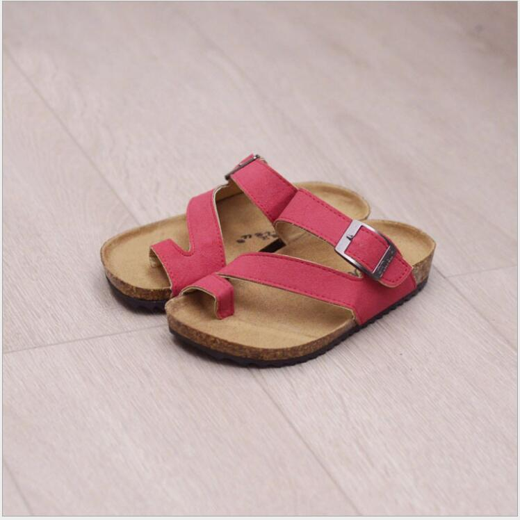 Kids Cork Sandals 2018 New summer childrens shoes boys leather sandal kids footwear real leather shoes Girls beach sandals