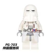 Único de super-heróis da marvel dc comics Snow trooper star wars modelos blocos de construção de tijolos brinquedos para as crianças kits de brinquedos menino