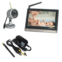 2015 New 7 0inch Baby Monitor 2 4Ghz Baba Electronic Baby Monitors 4channels IR Night Vision