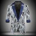 Mens Ternos Blazers New Arrivals 2016 Verão Homens Couberam Blazers Jaquetas Zebra Print Blazer Ocasional Bouton Traje Fashion