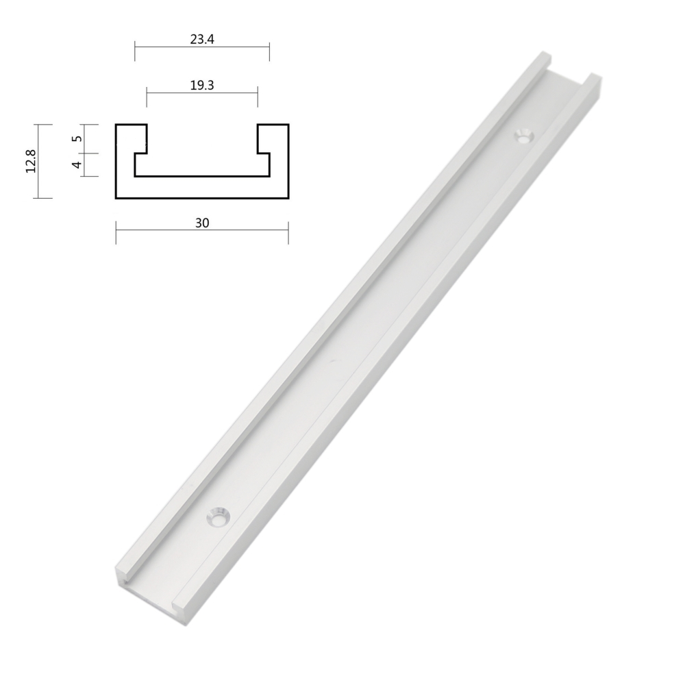 12inch 300mm T-tracks T-slot Miter Track Jig Fixture Slot For Router Table Saw 2pcs woodworking diy tool miter track stop for t track t slot jf1103