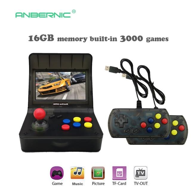 US $82 49 34% OFF|Portable Retro Mini Handheld Game Console 4 3 Inch 64bit  3000 Video Games classical Family Game Console Gift RETRO ARCADE 08-in