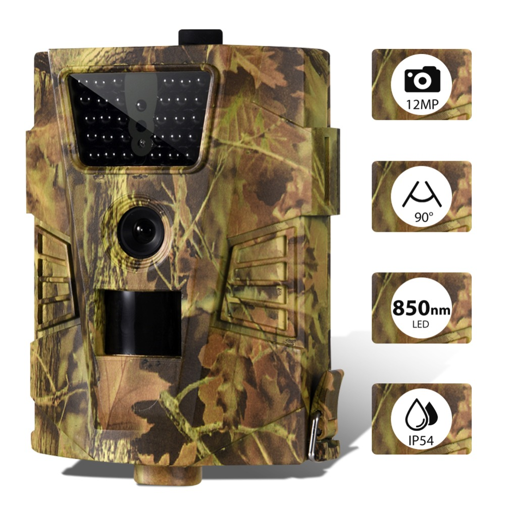 2PCS/LOT Hunting Trail Camera 850nm Wild Surveillance Cameras HT001B Waterproof Night Vision Animal Photo Traps Track