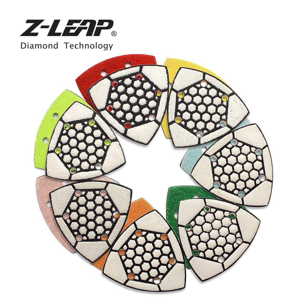 "7PCS 3/"" Triangular Diamond Dry Polishing Pads Sanding Pad for Granite Marble"