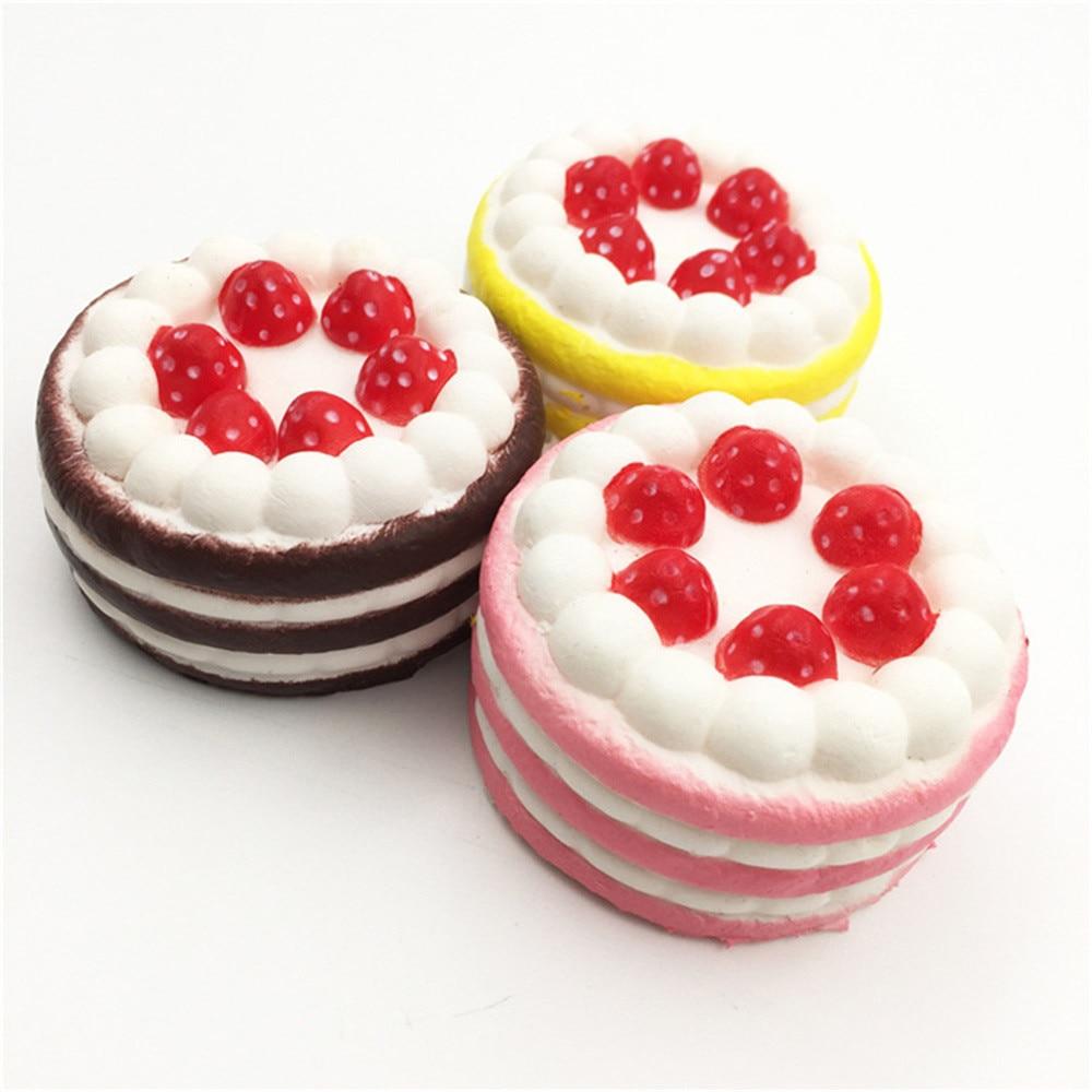 Mini strawberry cake Cute Mini Squishy Strawberry Cake Sweet Cream Scented Bread Slow Rising Strap Relieves Stress Fun Toy Doll