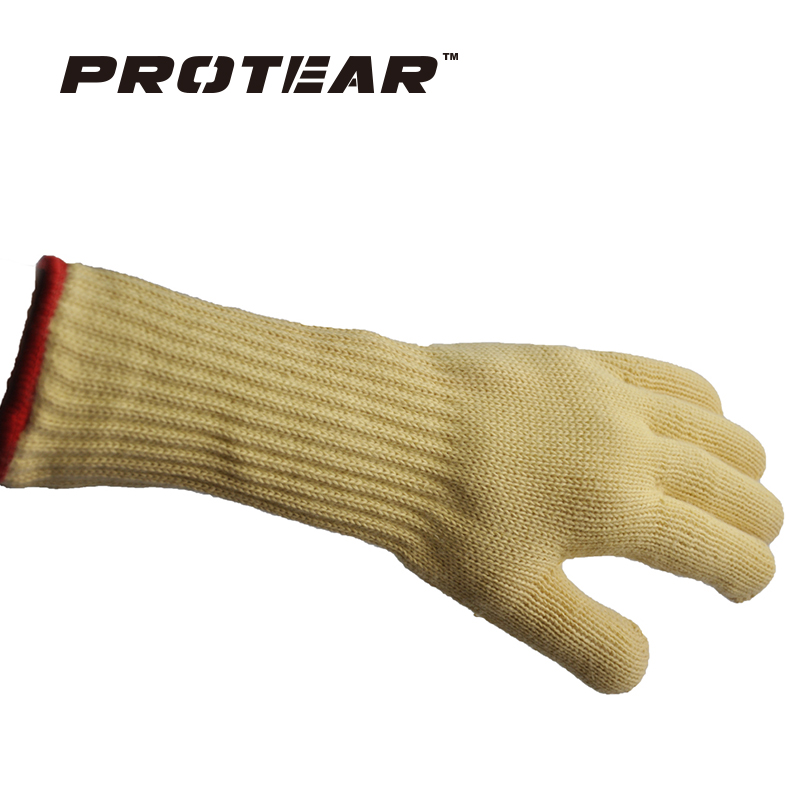 Protear A pair of professional work gloves Heat Resistant Oven BBQ Safety Goves Cut Resistant Heat Resistant Flame Resistant oven mitt flame resistant 100% cotton treated fabric each