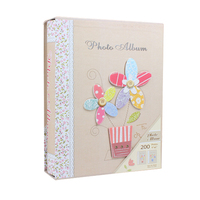 Vintage Style Flowers Photo Album Storage Holder Picture Book Images Scrapbooking Paper Pages Binders 200 Sheets