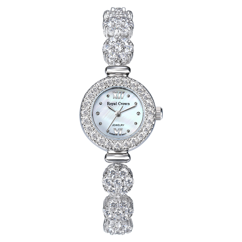 Royal Crown 5266 Italy brand MIYOTA Switzerland Diamond Jewelry Fashion Watch Ladies South Africa Diamond relogio feminino