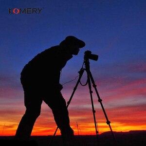 "Image 5 - KOMERY חצובה מחזיק נייד מקצועי מצלמה חצובה אלומיניום חצובה עבור טלפון 1/4 ""בורג 360 תואר tripode para camara"