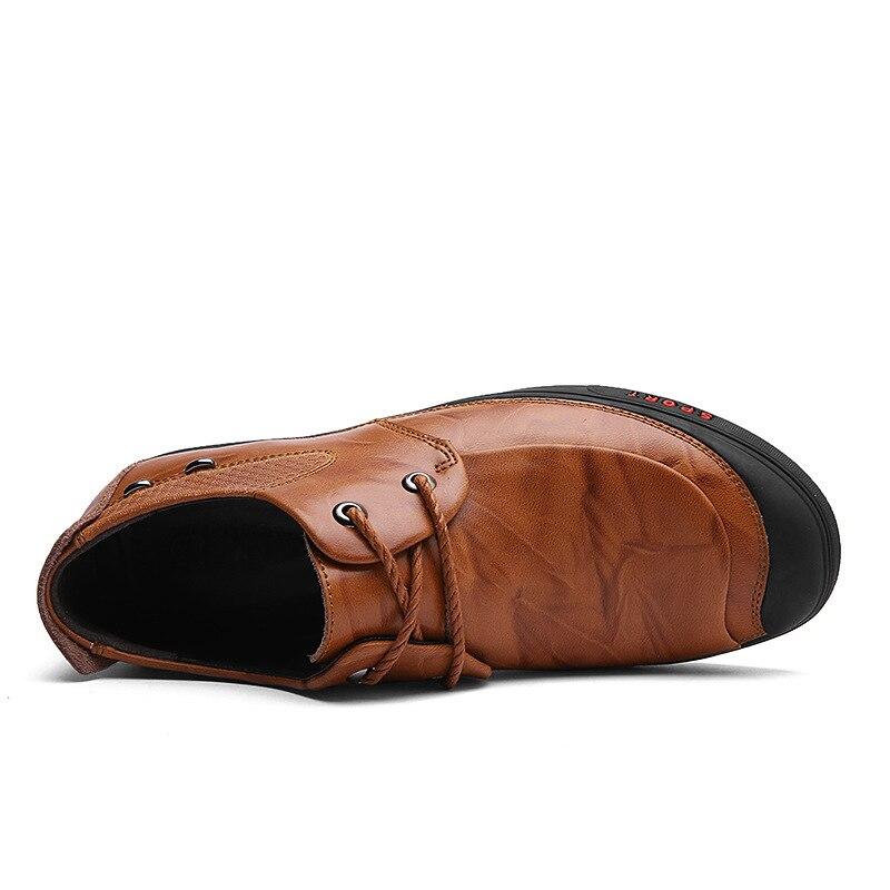 Água deslizamento Prova Sapatos Em Outono Preto Estilo De 2018 D' Nova À Homens Natural vermelho Britânico Dos Couro Casuais Negócios Não laranja 6qxpdTd