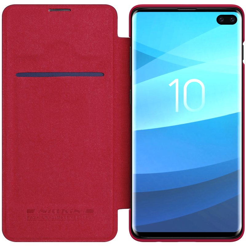 Case For Samsung Galaxy S10+ Plus Qin Series PU Leather Flip Cover Sfor Samsung S10 Plus Case